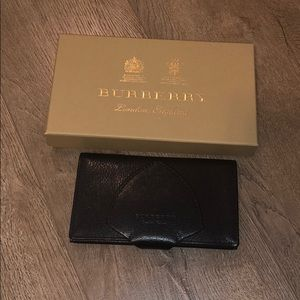 Burberry three fold long wallet